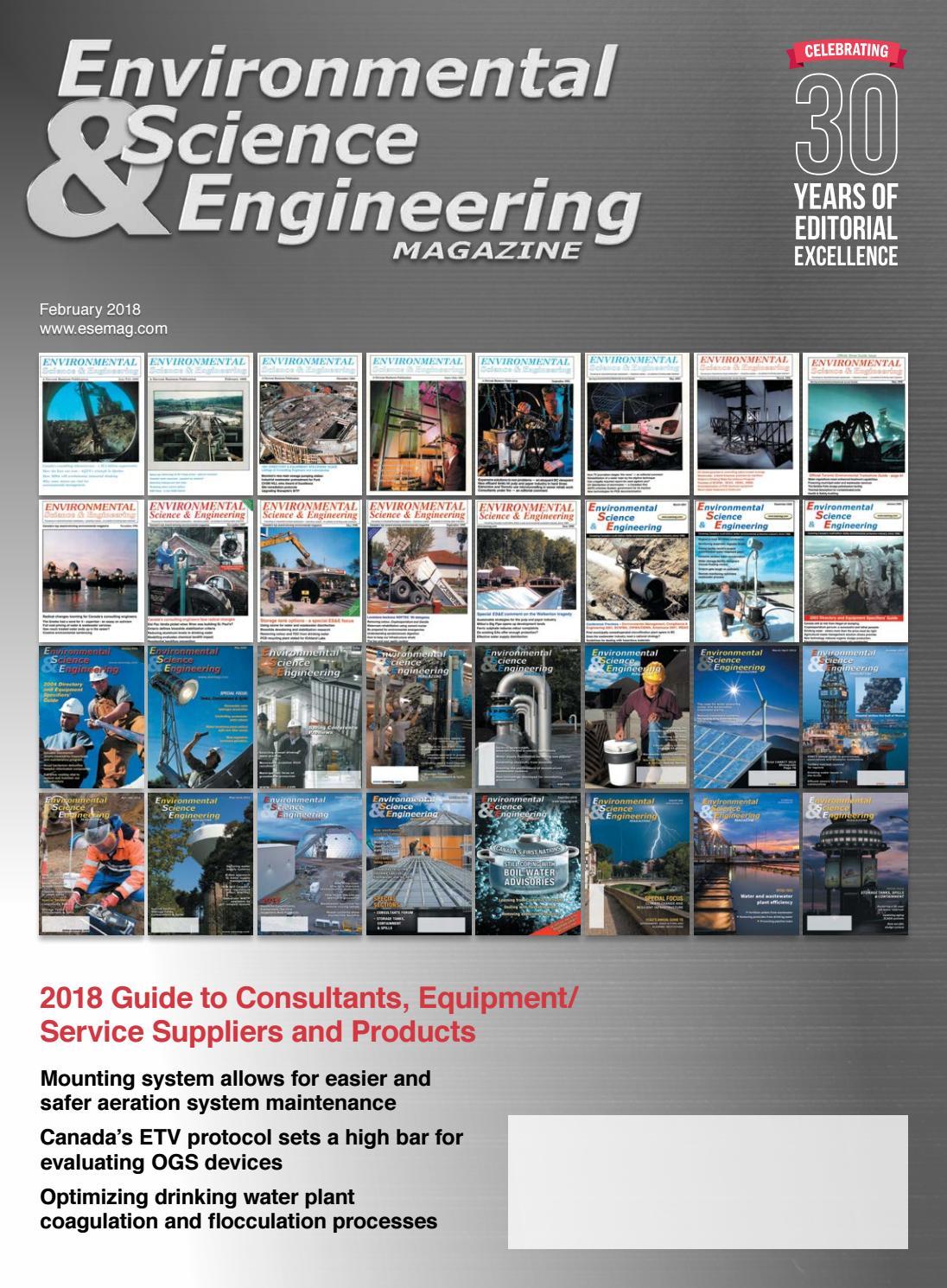 Environmental Science Amp Engineering Magazine Esemag
