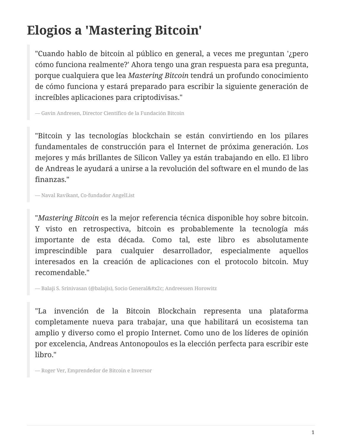 Dominando el bitcoin by Rubén F. M. - issuu