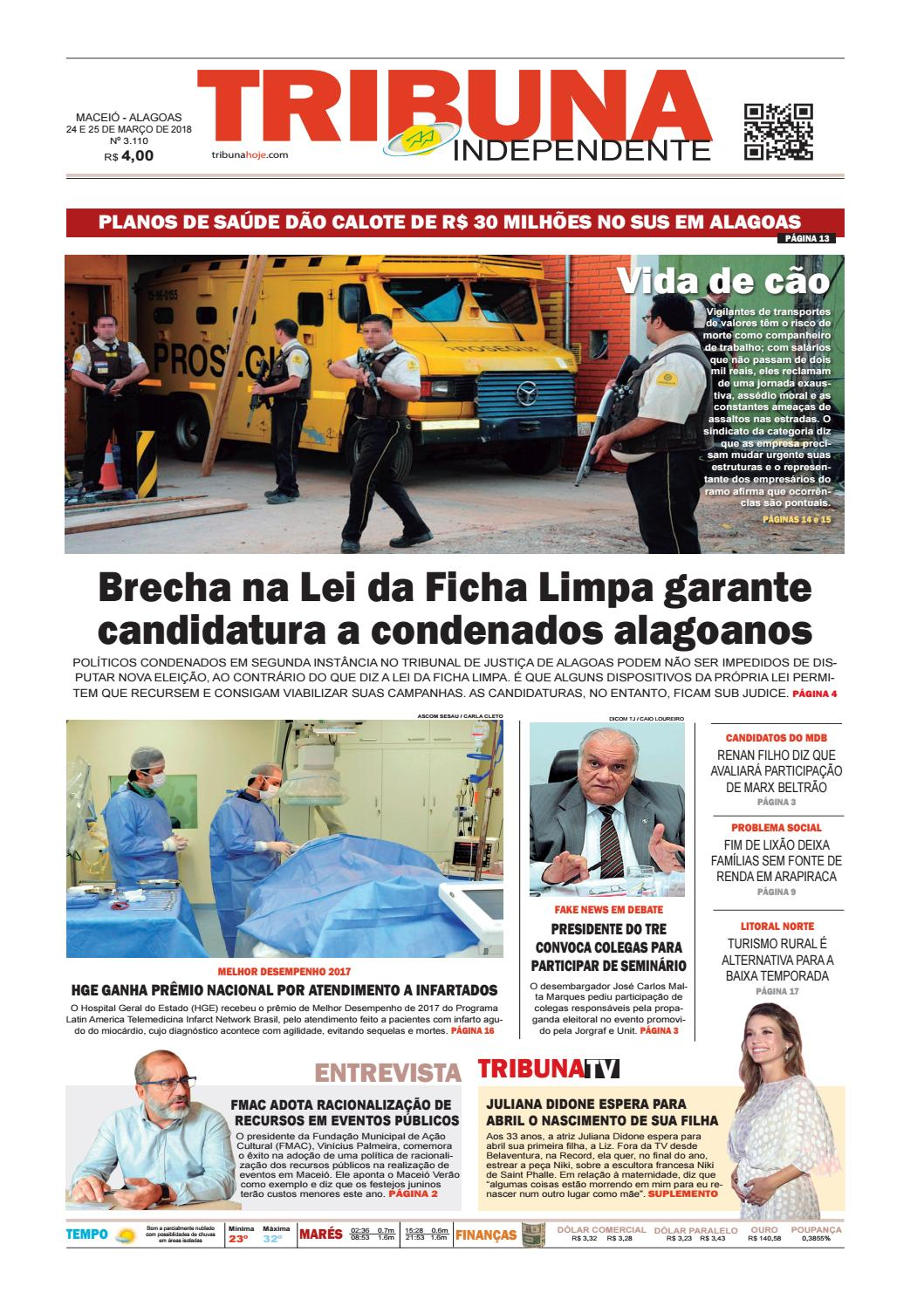 7849d8a90 Edição número 3110 - 24 e 25 de março de 2018 by Tribuna Hoje - issuu