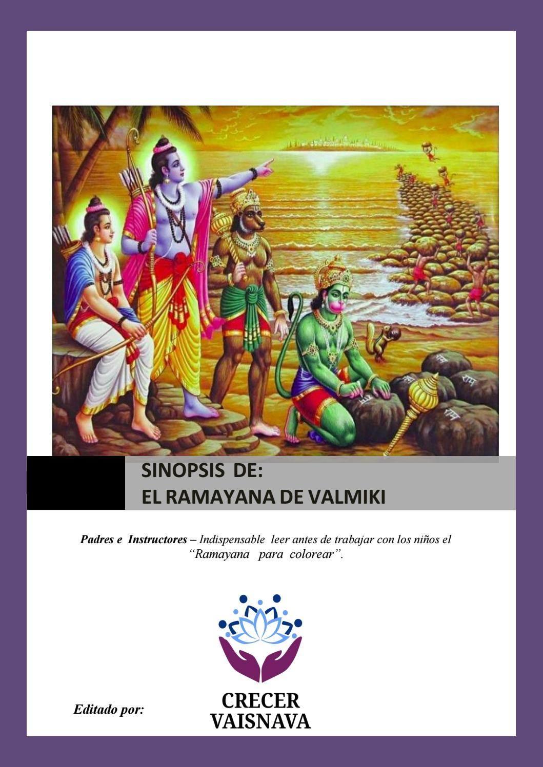 Sinopsis ramayana de valmiki by Crecer Vaisnava - issuu