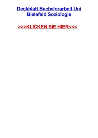 Deckblatt Bachelorarbeit Uni Bielefeld Soziologie By Tracivueey Issuu