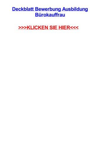 Deckblatt Bewerbung Ausbildung Bjrokauffrau By Jenniferyjgb Issuu
