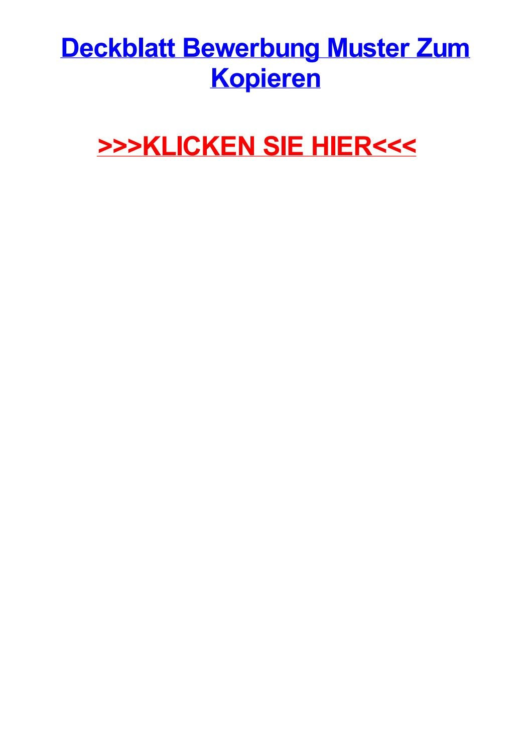 Deckblatt bewerbung muster zum kopieren by brentfcqw - issuu