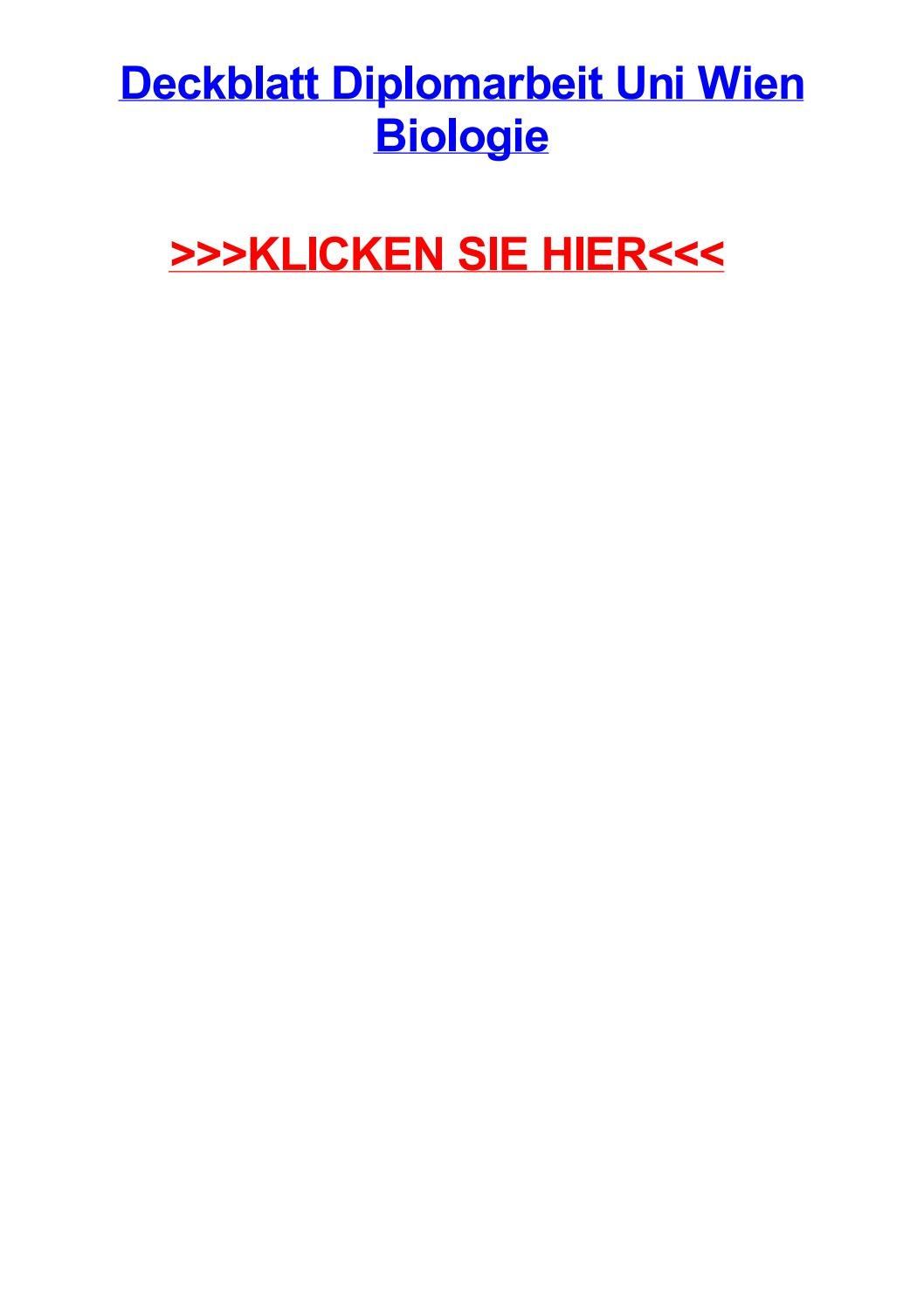 Deckblatt diplomarbeit uni wien biologie by brinsonrxrm - issuu