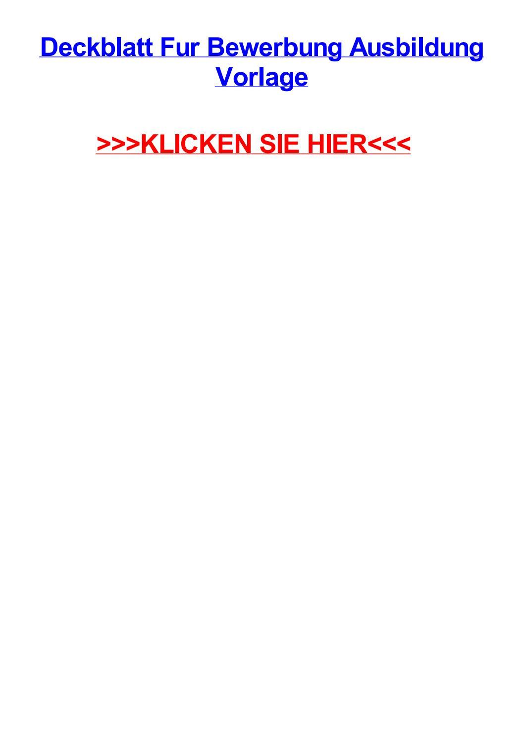 Deckblatt fur bewerbung ausbildung vorlage by brittanyrhrij - issuu