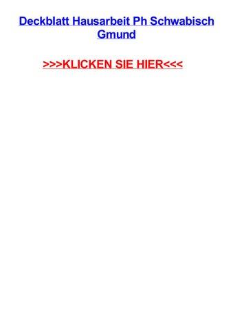 Deckblatt Hausarbeit Ph Schwabisch Gmund By Micheleohfho Issuu