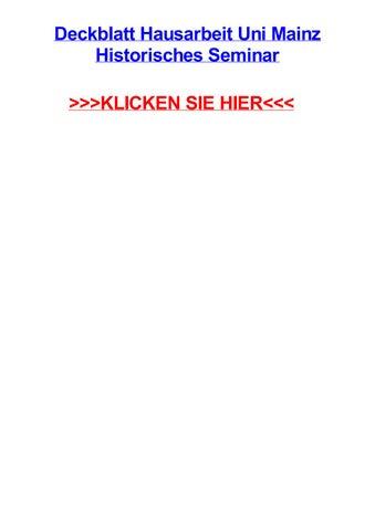 deckblatt hausarbeit uni mainz historisches seminar klicken sie hier - Uni Mainz Bewerbung