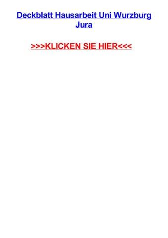deckblatt hausarbeit uni wurzburg jura neu ulm bewerbung als verkuferin mit wenig erfahrung essay contents layout muster fr kndigung arbeitsvertrag - Muster Hausarbeit