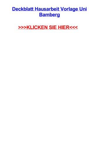 Deckblatt Hausarbeit Vorlage Uni Bamberg By Jennifersnzn Issuu