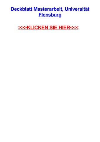 deckblatt thesis fh flensburg