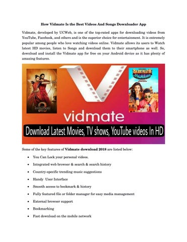 How Vidmate Is the Best Videos And Songs Downloader App by