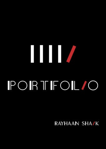 Rayhaan Shaik: Internship Portfolio by Rayhaan Shaik - issuu
