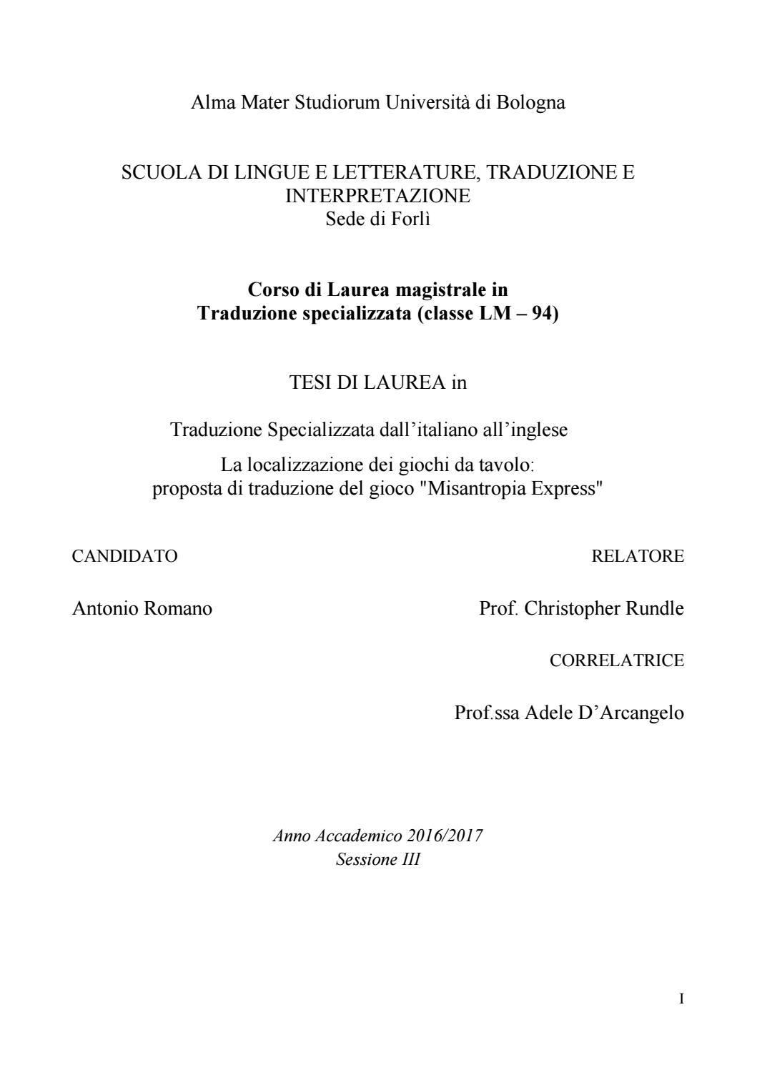 f1bb844ea2 Antonio Romano - La localizzazione dei giochi da tavolo - 2018 by ...