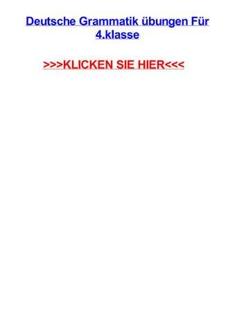 Deutsche Grammatik Jbungen Fjr 4 Klasse By Adrianxaoqv Issuu