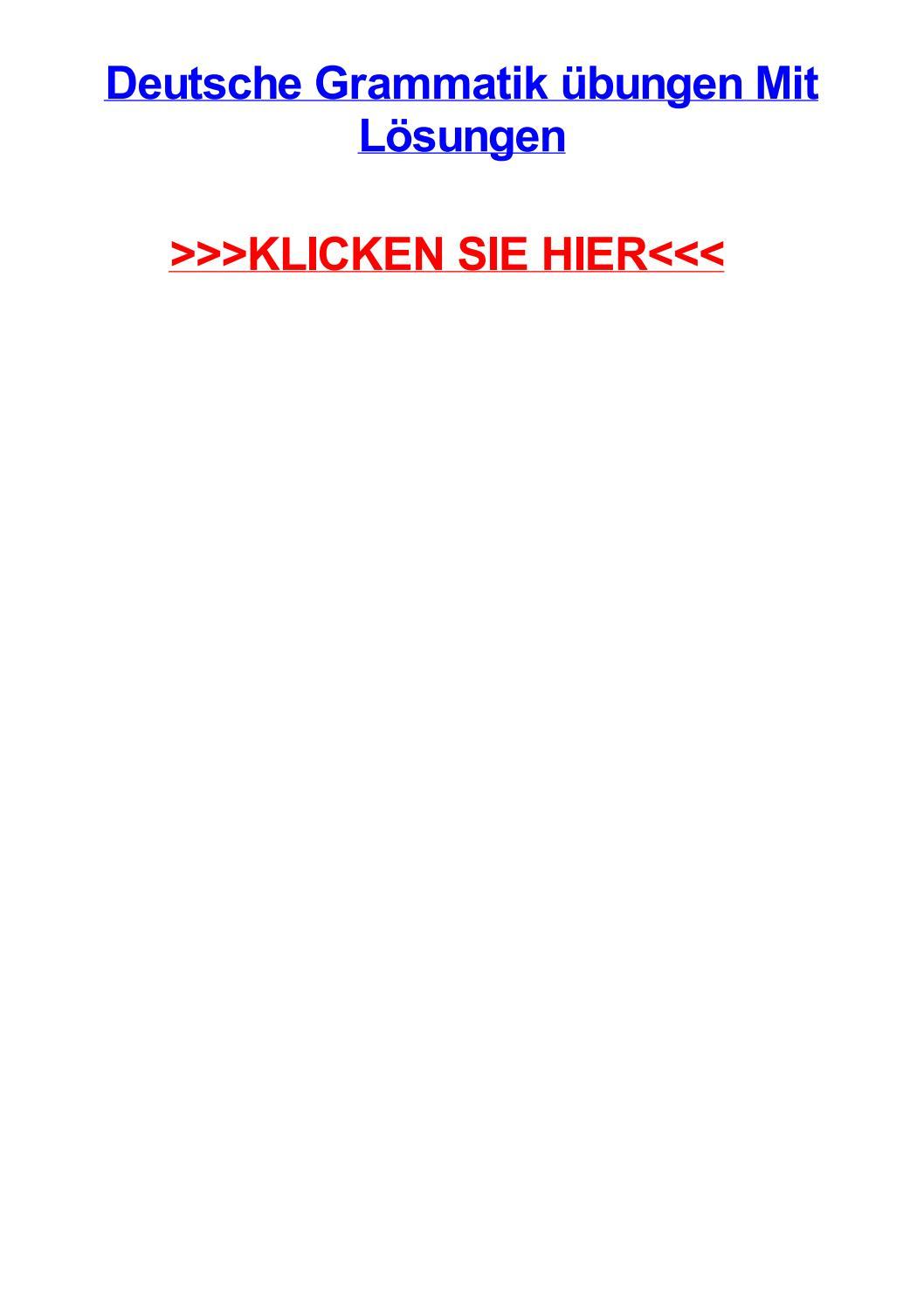 Deutsche grammatik jbungen mit lsungen by aarondskj - issuu