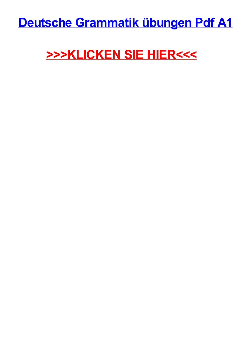 Deutsche grammatik jbungen pdf a1 by tonyqyykg - issuu