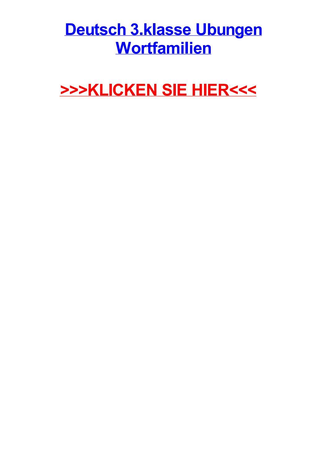 Deutsch 3 klasse ubungen wortfamilien by rayimza - issuu