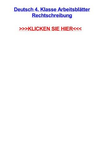 Deutsch 4 klasse arbeitsbltter rechtschreibung by curtisvguxu - issuu