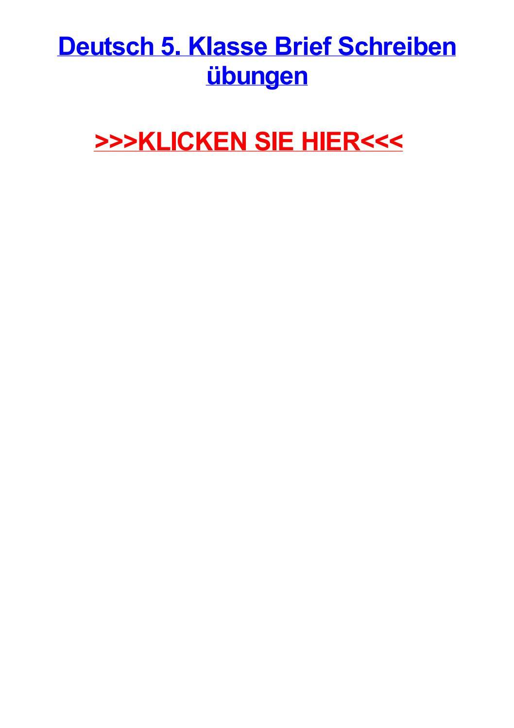Deutsch 5 Klasse Brief Schreiben Jbungen By Christinagfyn Issuu