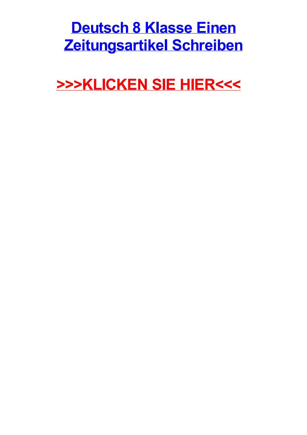 Deutsch 8 klasse einen zeitungsartikel schreiben by jayyaqn - issuu