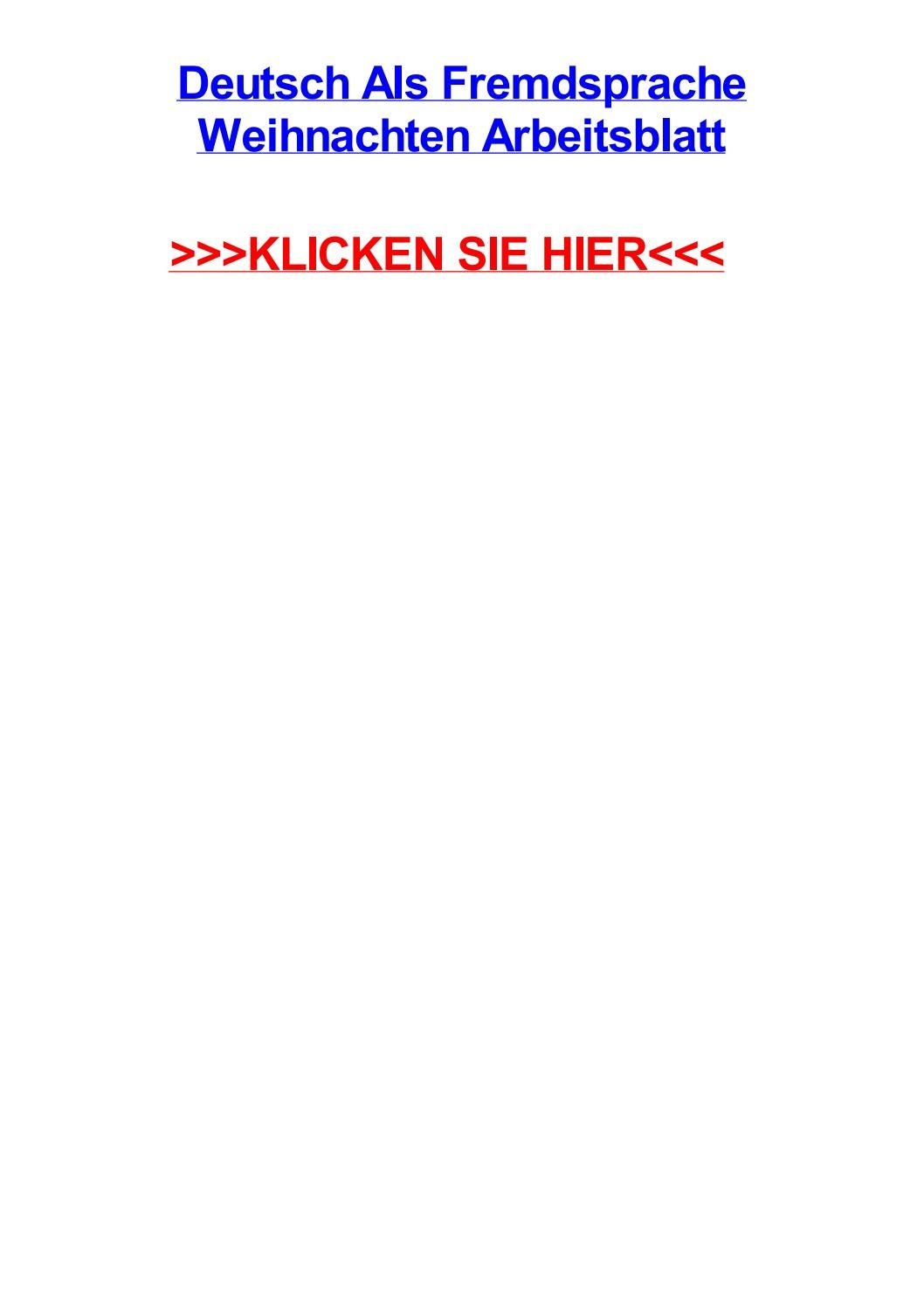 Deutsch als fremdsprache weihnachten arbeitsblatt by jacquelinerhupr ...