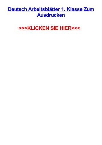 Deutsch arbeitsbltter 1 klasse zum ausdrucken by michaelrklc - issuu