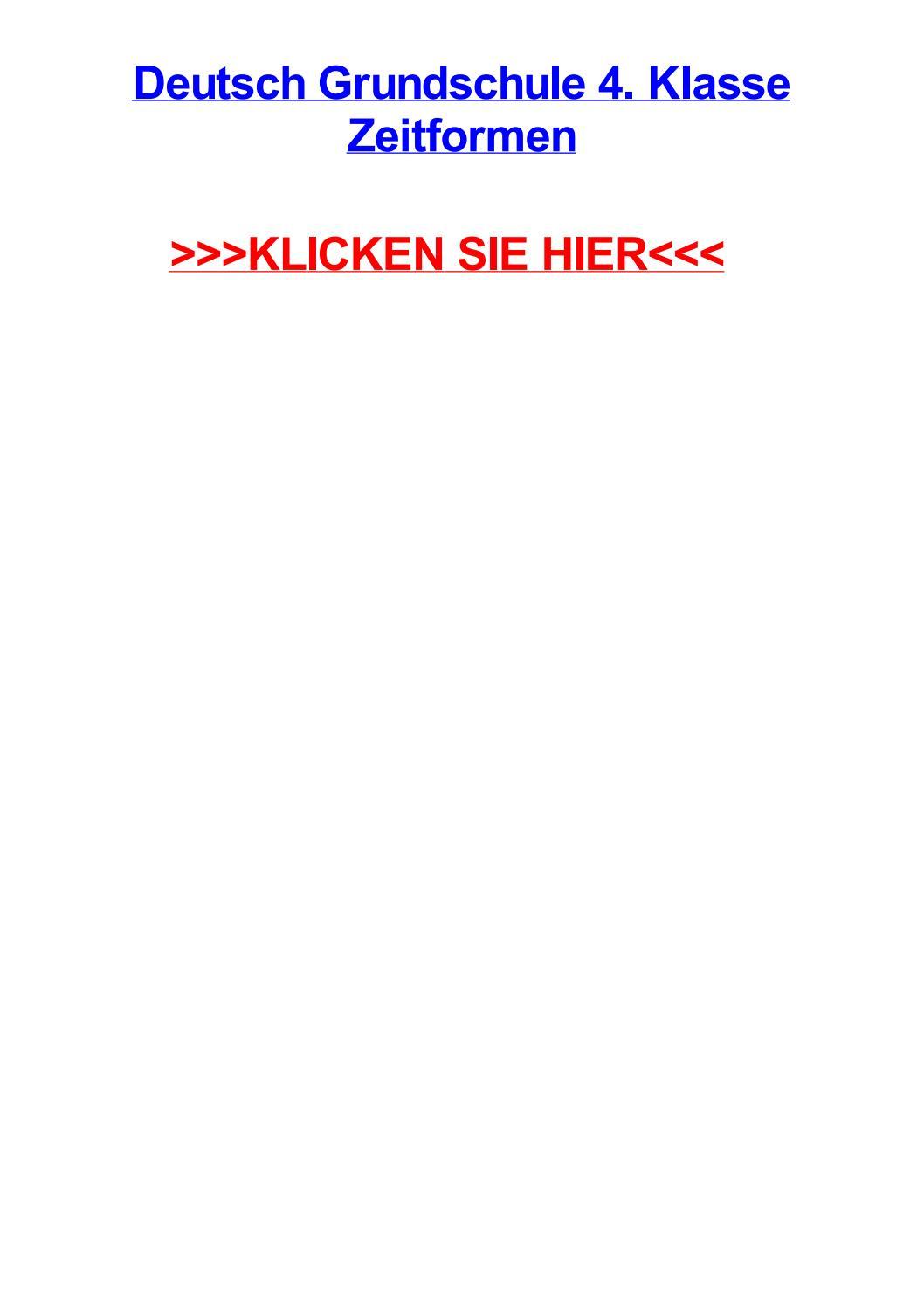 Deutsch grundschule 4 klasse zeitformen by katienuifk - issuu