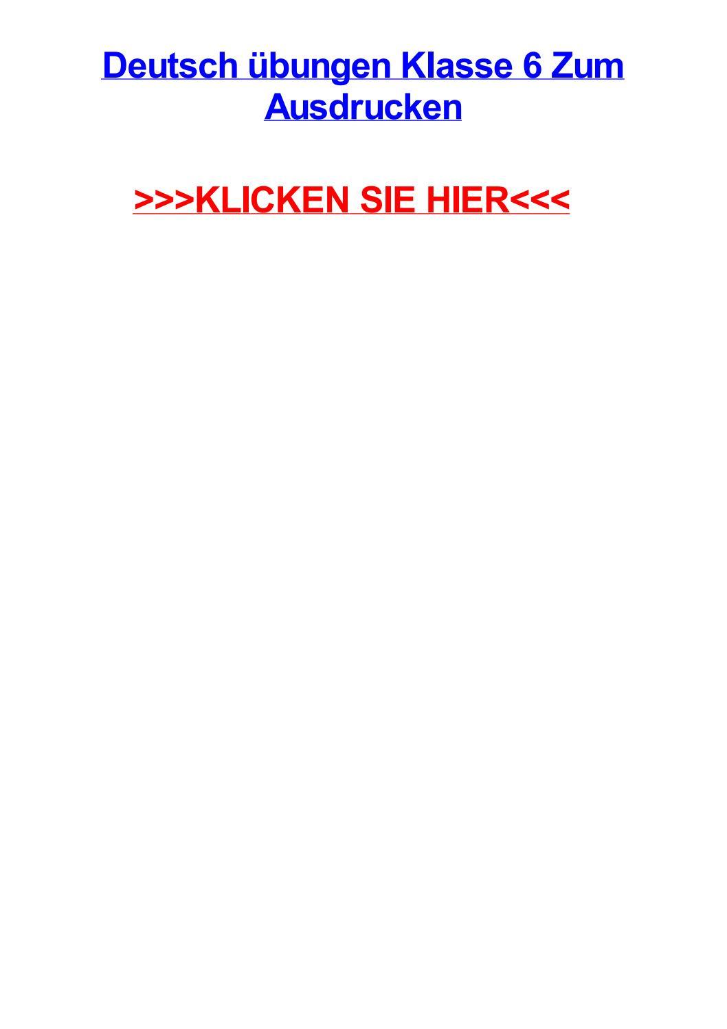 Deutsch jbungen klasse 6 zum ausdrucken by tracivueey - issuu