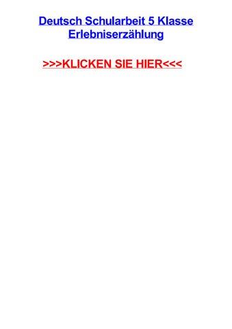 Deutsch Schularbeit 5 Klasse Erlebniserzhlung By Mirlandebmmjj Issuu