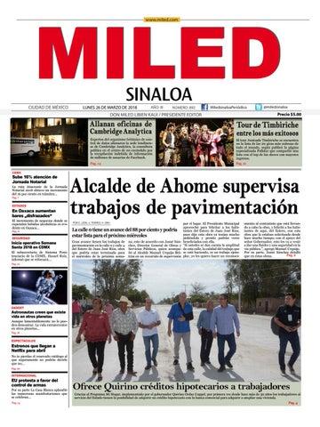 Miled Sinaloa 26 03 18 by Miled Estados - issuu aa61301d3b29c