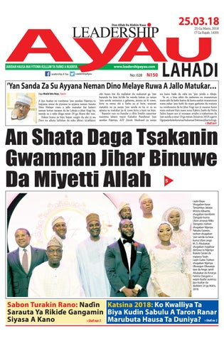 LEADERSHIP A Yau Lahadi 25 Ga Maris, 2018 by Leadership Newspapers
