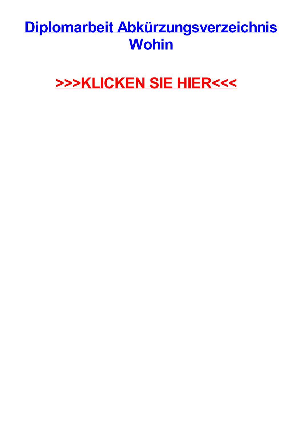 Diplomarbeit abkjrzungsverzeichnis wohin by phillipqhagl - issuu