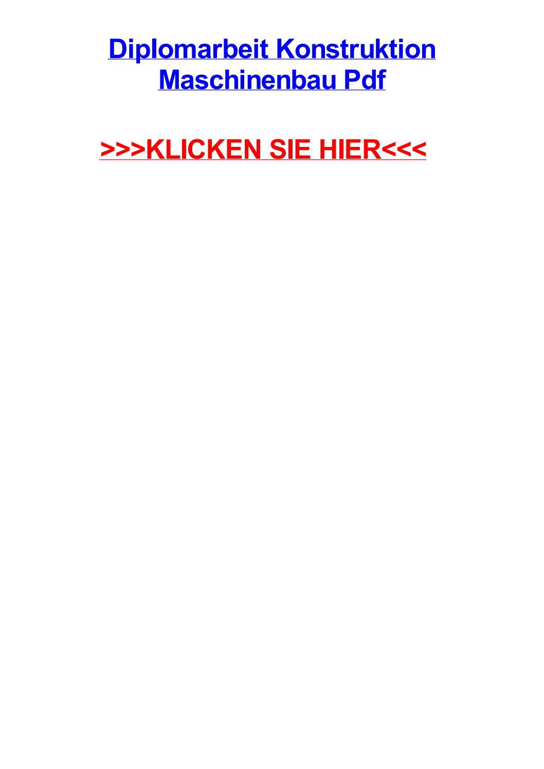 Diplomarbeit konstruktion maschinenbau pdf by cynthiaberzw - issuu