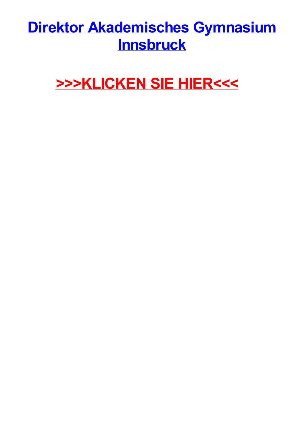 Direktor akademisches gymnasium innsbruck by joesbwsn - issuu