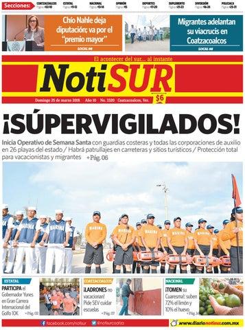 NotiSUR 25 de marzo 2018 by Diario NotiSUR Coatzacoalcos 2015 59de352ced3