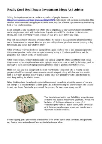 Advice on renting your house out