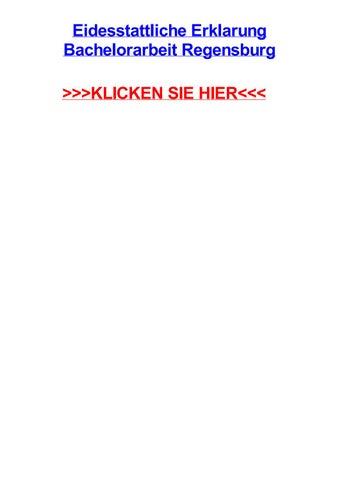 Eidesstattliche erklarung bachelorarbeit regensburg by tracivueey ...