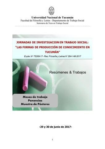"""Jornadas de Investigación en Trabajo Social: """"Las formas de ..."""