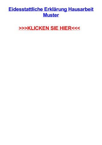 Eidesstattliche erklrung hausarbeit muster by tinaouzgm - issuu