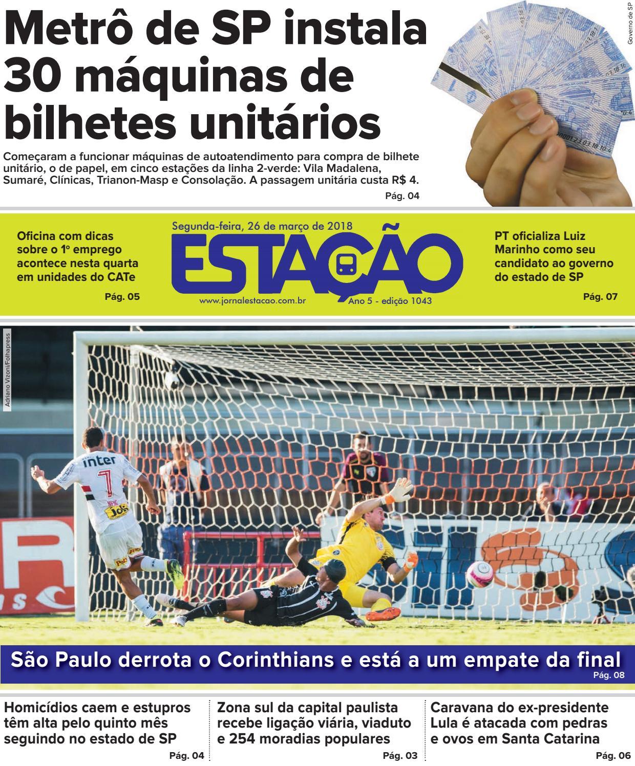 a315790303e6a Jornal Estação de 26 03 2018 - Ed. 1043 by Jornal Estação - issuu