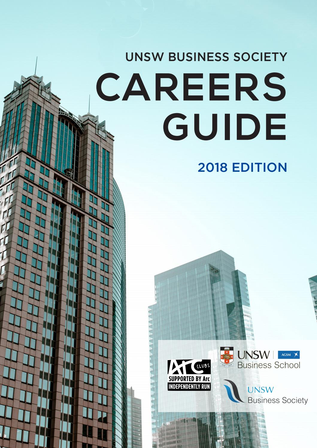 UNSW Business Society 2018 Careers Guide by UNSW Business
