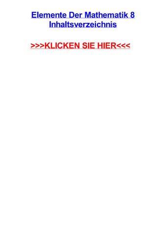 Elemente der mathematik 8 inhaltsverzeichnis by jomegafofhk - issuu