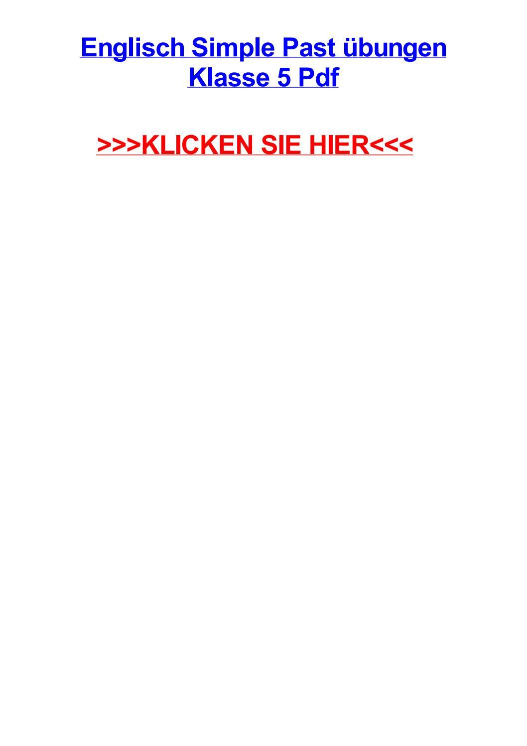 Englisch simple past jbungen klasse 5 pdf by jamescfuu - issuu