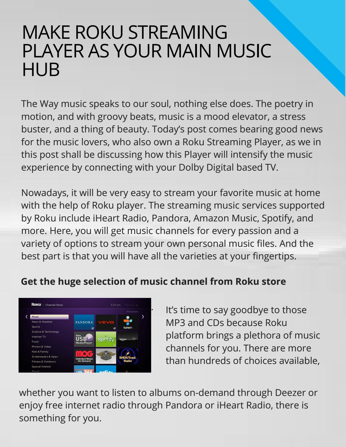 Make Roku Streaming Player as Your Main Music Hub by