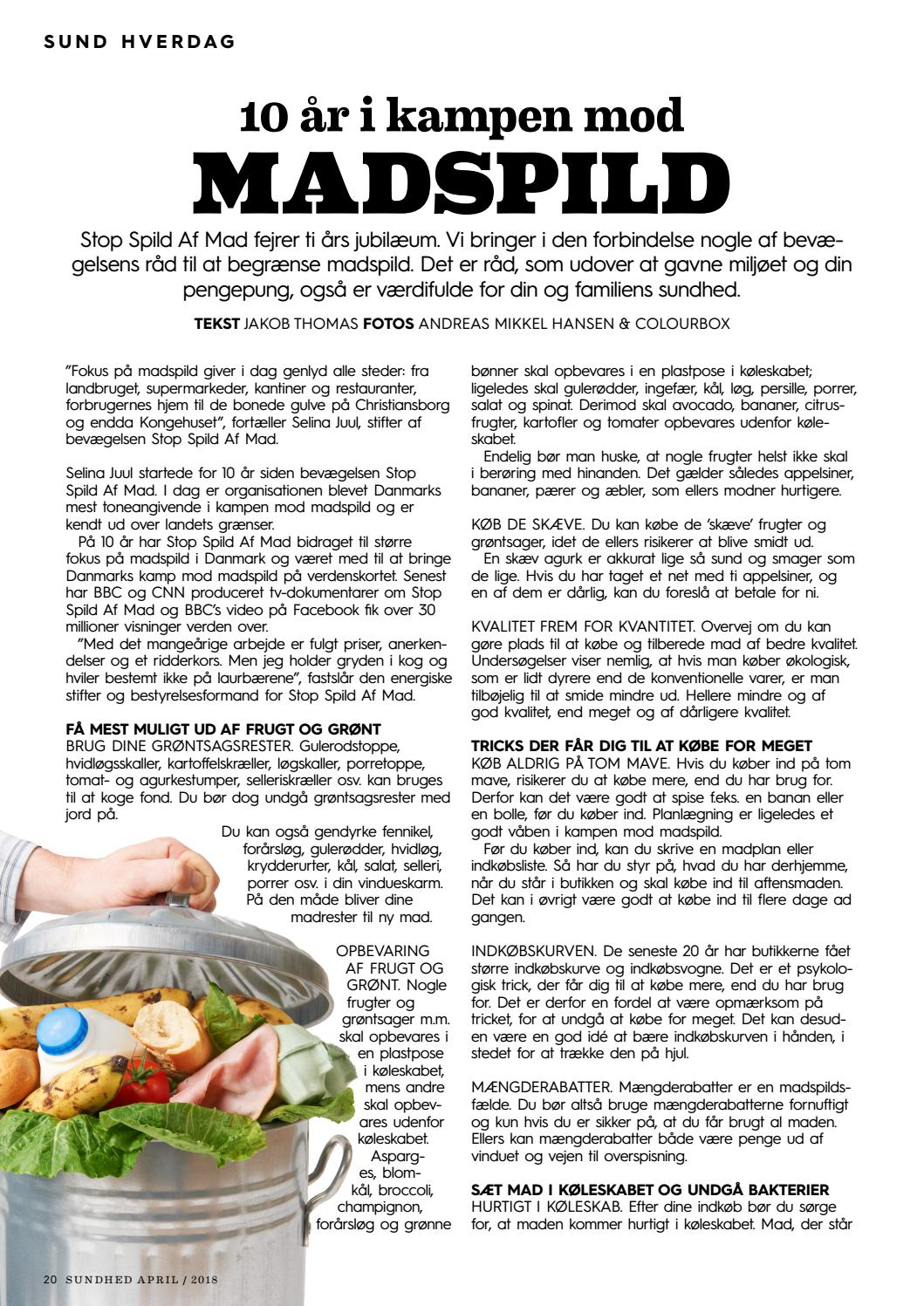 Picture of: Sundhed April 2018 By Magasinet Sundhed Issuu