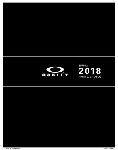f6597d8d3fe51 Oakley spring 2018 afa digital catalog by Karma.Oakley SA - issuu