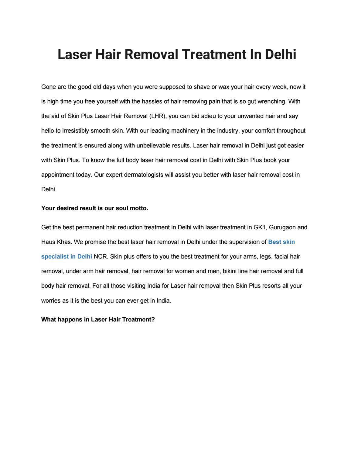 Laser Hair Removal Treatment In Delhi By Vedika Sharma1109 Issuu