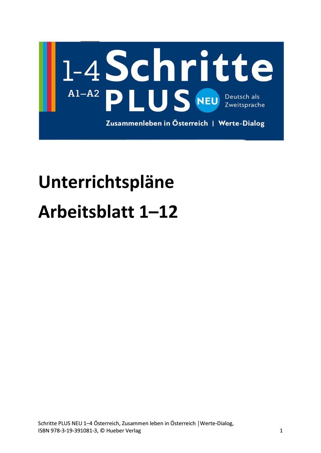 Unterrichtspläne arbeitsblatt 1 12 schritte plus neu werte dialog ...