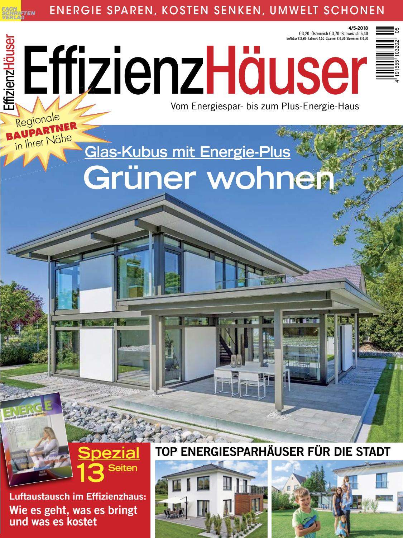 EffizienzHäuser 4/5-2018 by Fachschriften Verlag - issuu