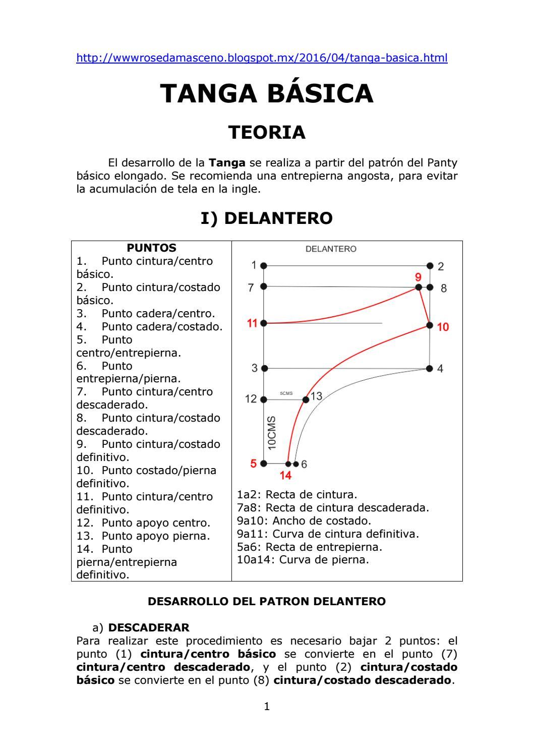 Tanga Basica - Teoria by Moldes / Patrones Bikinis y Tangas ...